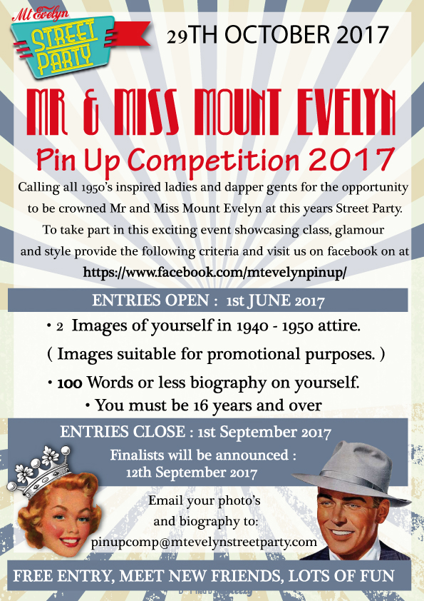 Mr and Miss Mount Evelyn Pin Up Competition 2017